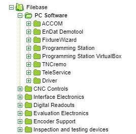 Directory del sito Heidenhain per scaricare simulatore Heidenhain