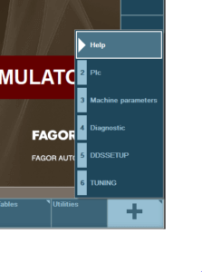 Come modificare la lingua del simulatore CNC Fagor 8065