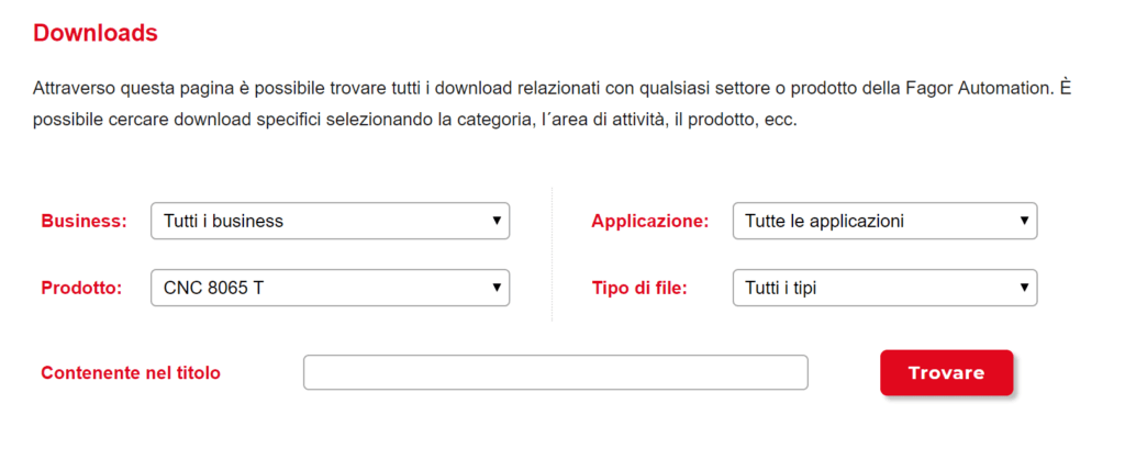 Pagina di ricerca simulatore CNC free Fagor 8065